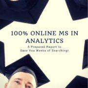 100% Online MS in Analytics